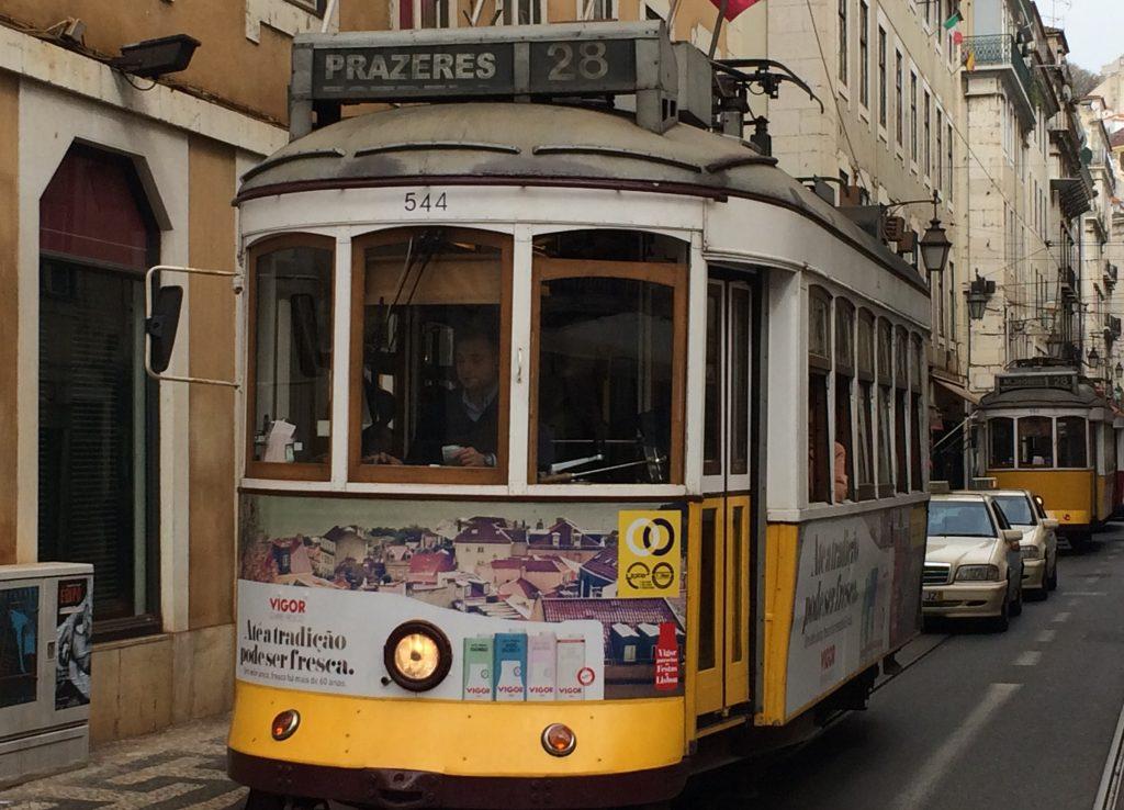 Tranvía 28 Lisboa Portugal