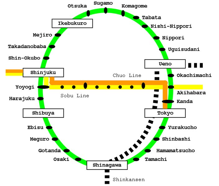 Yamanote and Chuo Line