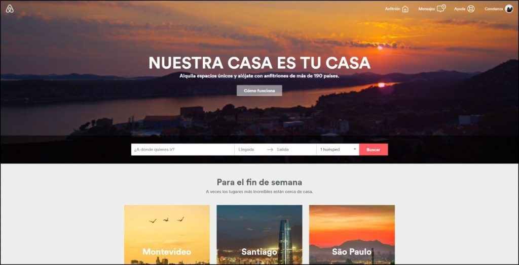 Home cupones Airbnb
