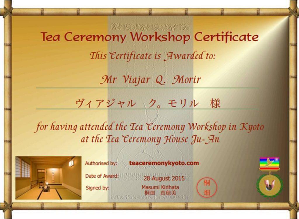 Ceremonia del té en Japón - Tea Room Ju-An en Kyoto