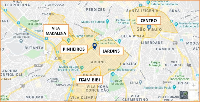 Donde alojarse en San Pablo Brasil