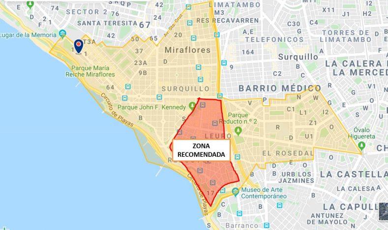 Donde alojarse en Lima. Mejor zona de Miraflores