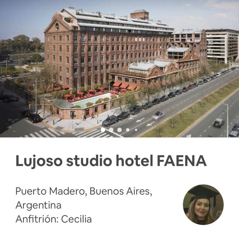 Hotel Faena en Airbnb