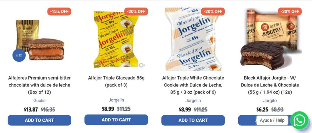 latinafy productos argentinos precios